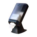 Bulkysoft servetdispenser op voet grijs transaprant tbv system-one