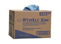 Wypall X80 poetsdoeken 1 lgs blauw 31x42cm