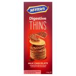 Mc Vitie's digestive thins melk doosje 150 gr