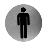 RVS pictogram rond man