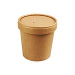 Biodore soepbeker 350 ml + deksel Kraftpapier en PLA