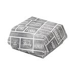 Pubchalk hamburgerbak medium wit/grijs 115 x 115 x 70 mm 300 stuks