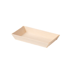 Biodore schaal falcata hout 130x65x20 mm naturel