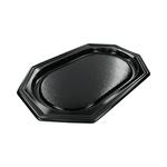 Biodore caterschaal zwart 8 hoekig 35 cm