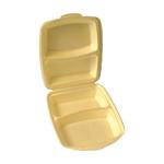 Menubox 2-vaks gecoat beige 4x50st