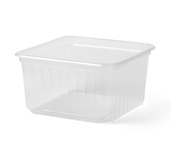 Plastic bak transparant 500 ml 115 x 115 x 61 mm