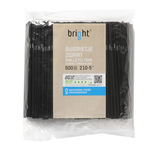 Buigrietje zwart 21 cm 5 mm bright