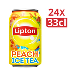 Lipton ice tea peach no bubbles blik 33 cl