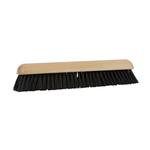 Zaalveger hout 60 cm. haarmix/zwart