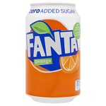 Fanta zero orange blik 33 cl