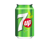 Seven Up regular blik 33 cl
