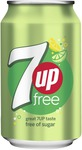 Seven up free blik 33 cl 6 x 4-pack