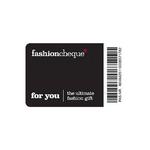 Fashioncheque hangtag blauw