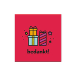 Gift&card bedankt