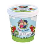 Boerderijs ijsbeker fien en teun vanille ijs met aardbeiensaus 100 ml