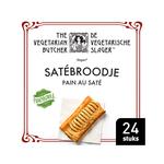 De Vegetarische Slager satebroodje 24 x 102 gram