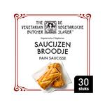 De Vegetarische Slager saucijzenbroodje 30 x 90 gram