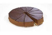 Diversi foods chocolade ganache taart met truffel 12 gesneden punten