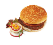Kamstra broodje hamburger ( rundvlees )130 gr