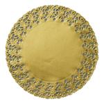 Duni taartrand goud rond 36cm 500 stuks